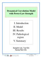 dynamical coevolution model with power law strength