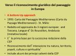 verso il riconoscimento giuridico del paesaggio in europa1