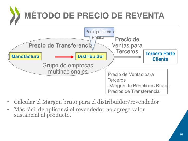 MÉTODO DE PRECIO DE REVENTA