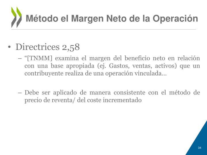 Método el Margen Neto de la Operación