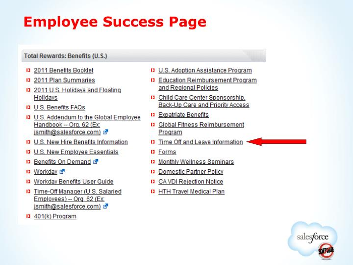 Employee Success Page