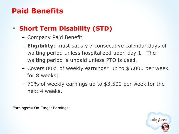 Paid Benefits