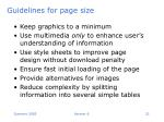 guidelines for page size