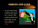 nobles and land