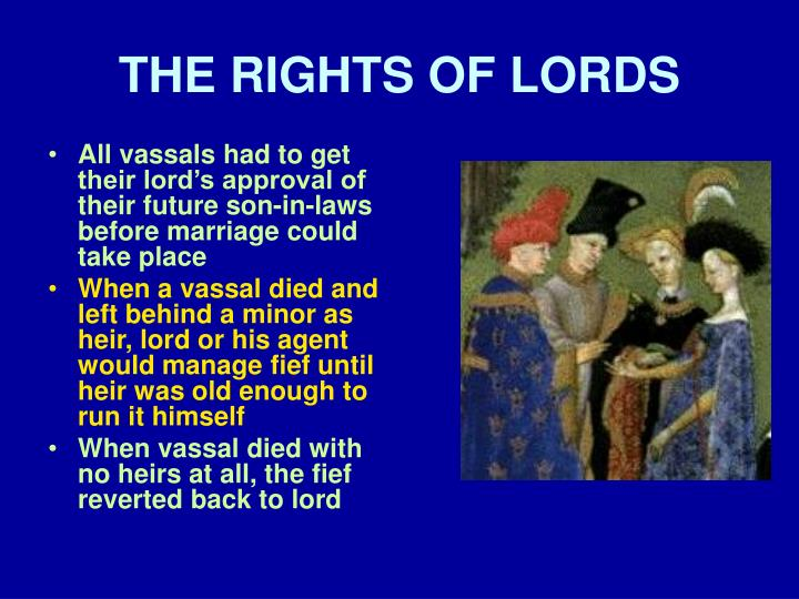 THE RIGHTS OF LORDS
