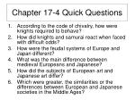chapter 17 4 quick questions