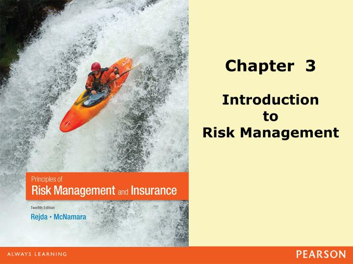 PPT - Chapter 3 Introduction to Risk Management PowerPoint