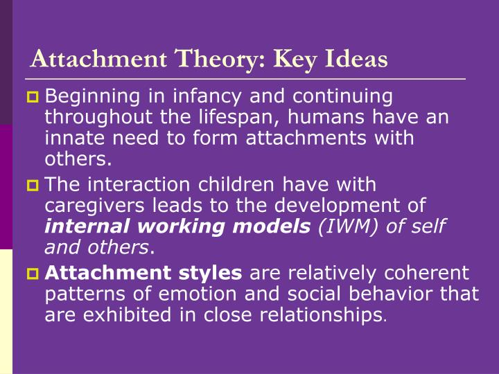 Attachment Theory: Key Ideas