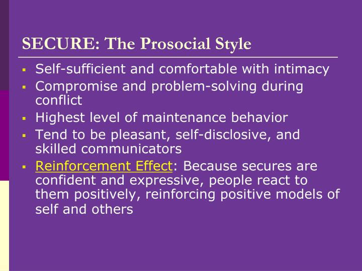 SECURE: The Prosocial Style