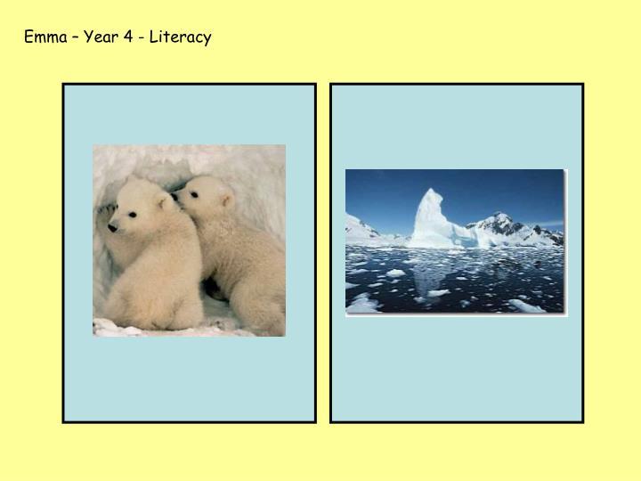 Emma – Year 4 - Literacy