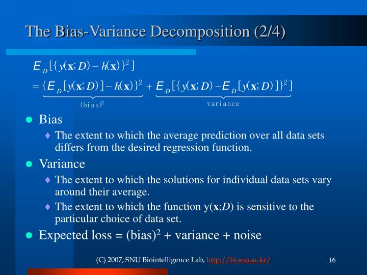 The Bias-Variance Decomposition (2/4)