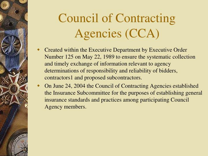 Council of Contracting Agencies (CCA)