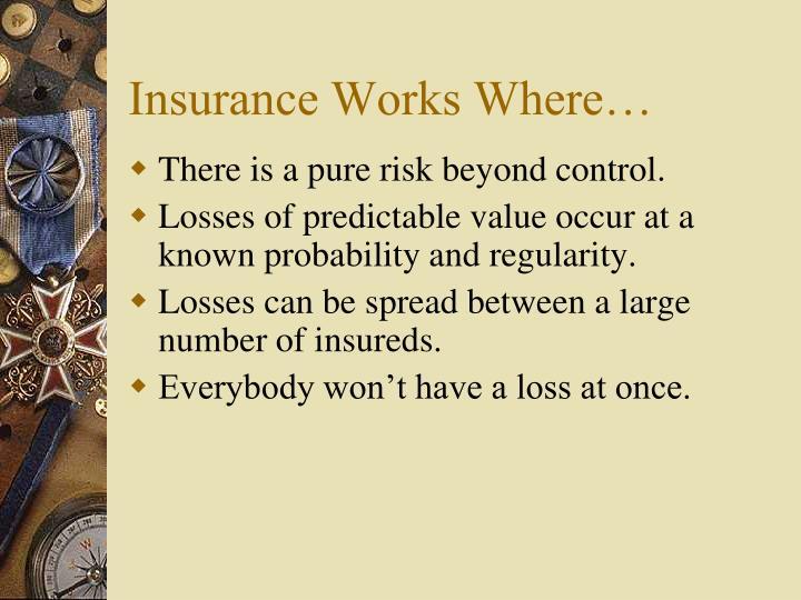 Insurance Works Where…