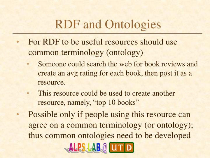 RDF and Ontologies