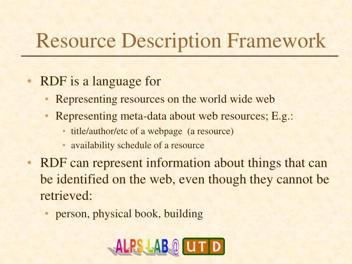 Resource description framework1