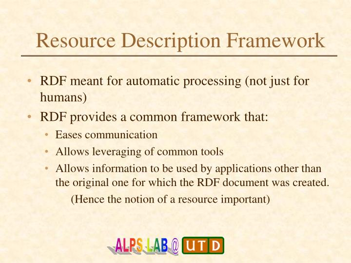 Resource description framework2