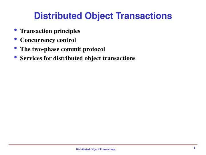 distributed object transactions n.