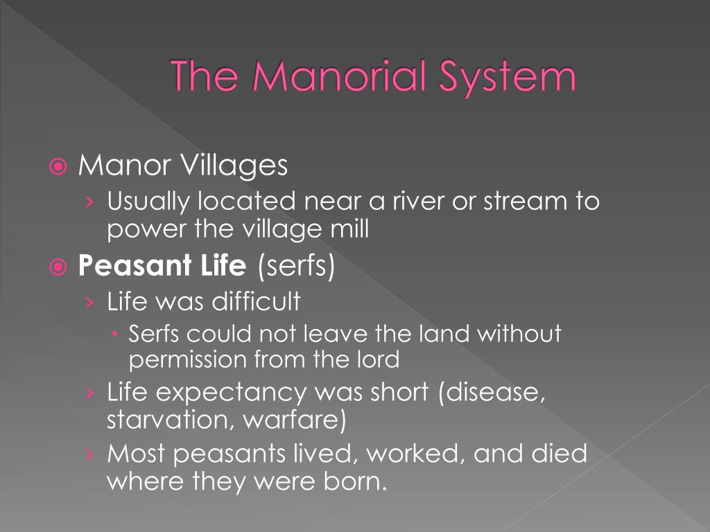 PPT - Feudalism and the Manorial System PowerPoint ...