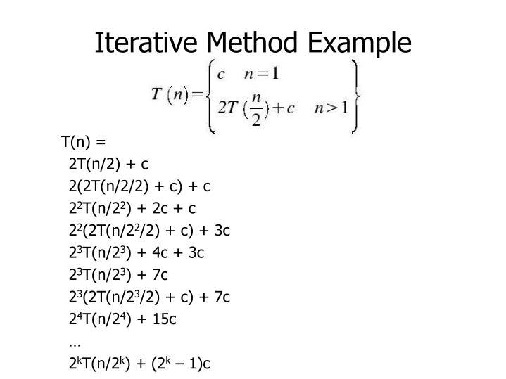 Iterative Method Example