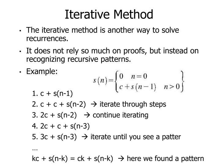 Iterative Method