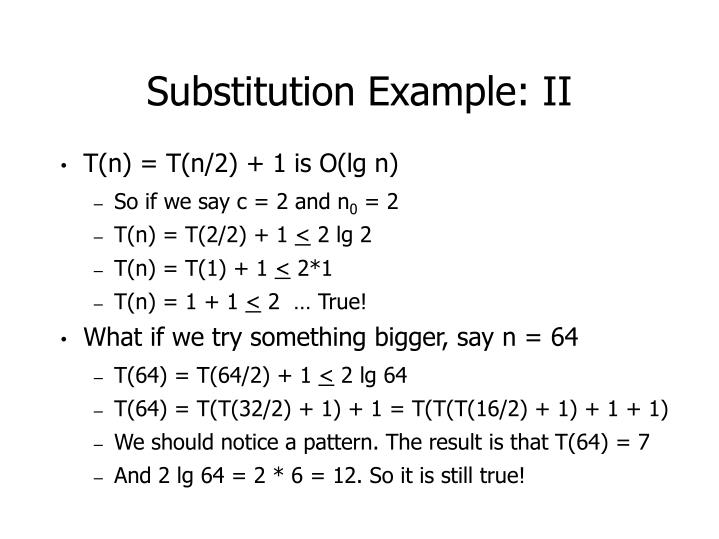 Substitution Example: II
