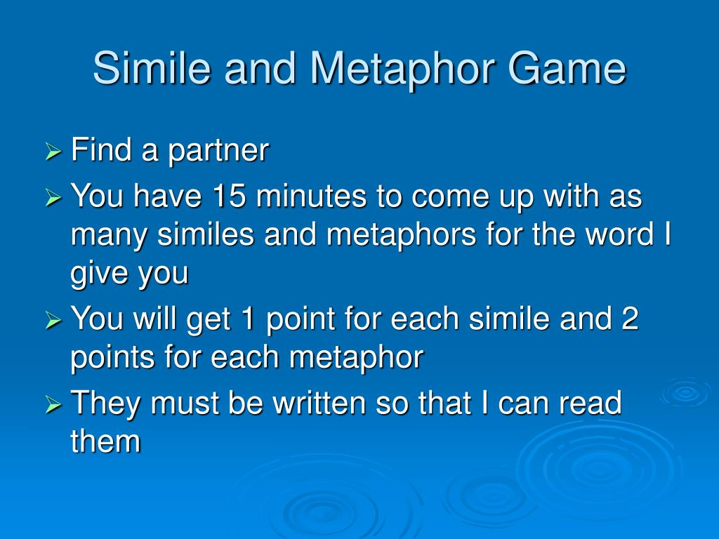 Ppt Similes And Metaphors Powerpoint Presentation Free Download Id 5518666