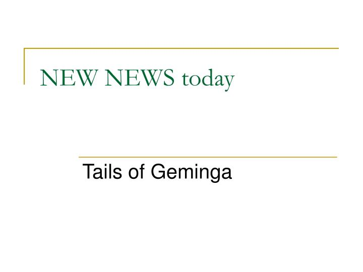 new news today n.