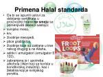primena halal standarda