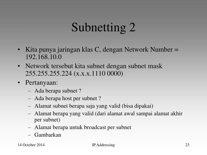 Subnetting 2