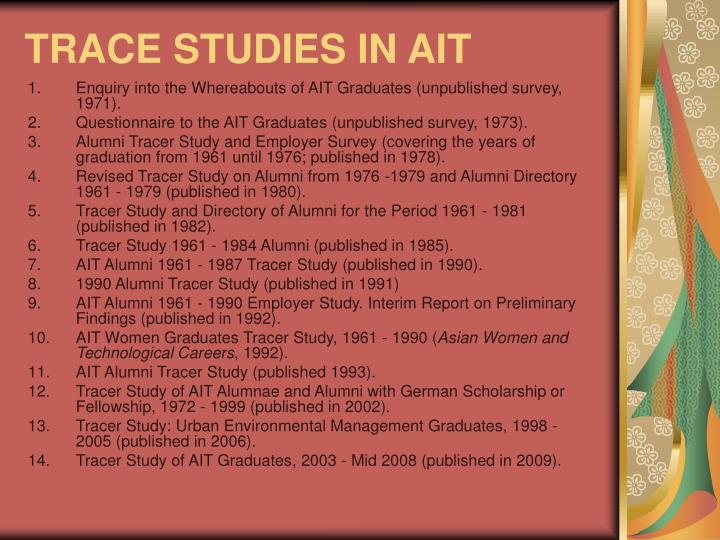 Trace studies in ait