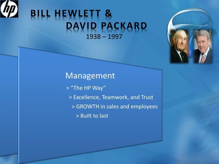 Bill Hewlett &