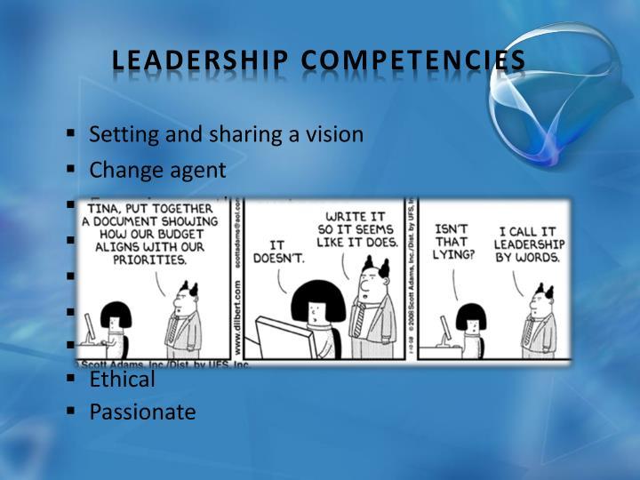 Setting and sharing a vision