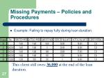 missing payments policies and procedures4