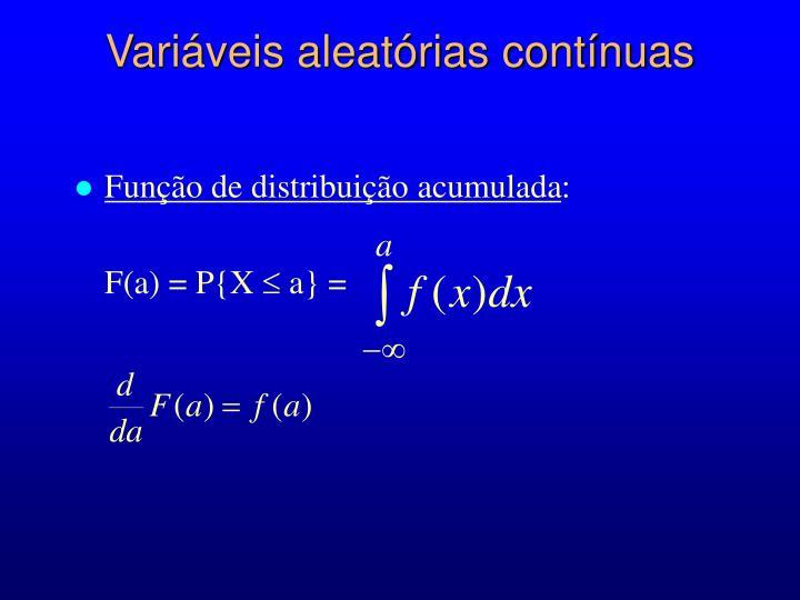 Variáveis aleatórias contínuas