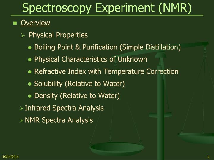Spectroscopy experiment nmr1