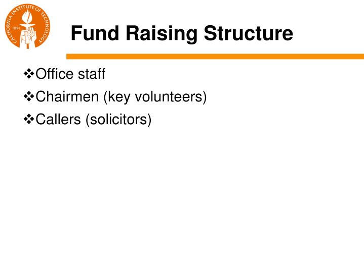 Fund raising structure