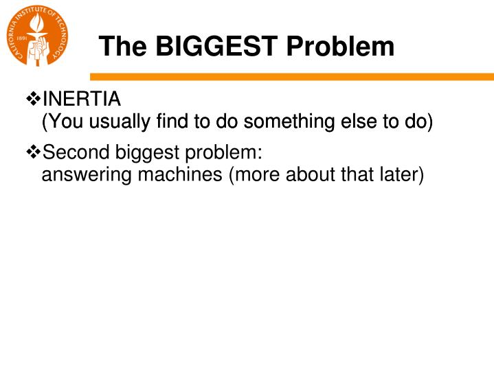 The BIGGEST Problem