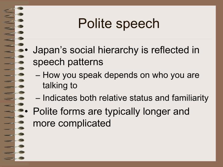 Polite speech