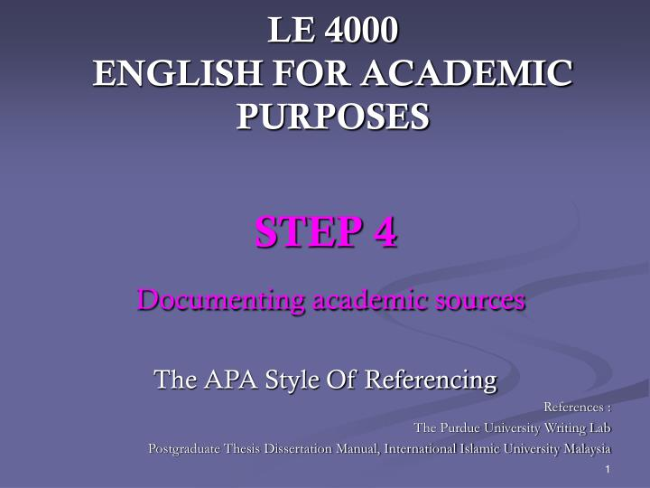le 4000 english for academic purposes n.