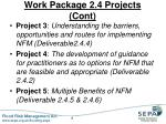 work package 2 4 projects cont