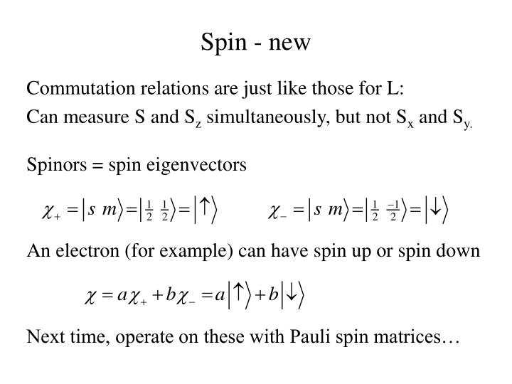 Spin - new
