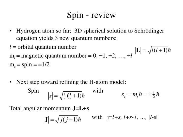 Spin - review
