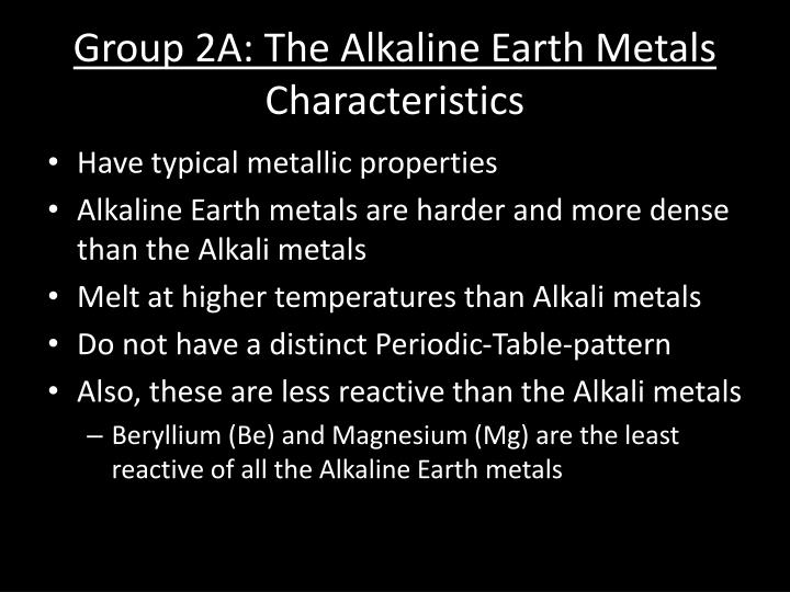Ppt Section 77 Group Trends For The Active Metals Powerpoint