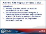 activity nrf response doctrine 1 of 2