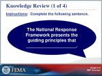 knowledge review 1 of 4