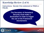knowledge review 2 of 4