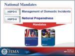 national mandates