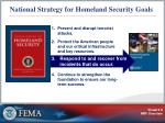 national strategy for homeland security goals