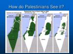 how do palestinians see it
