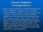 hussein mcmahon correspondence